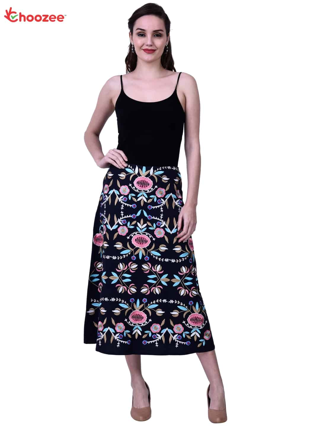 Inspire Women Skirt with Embroidery