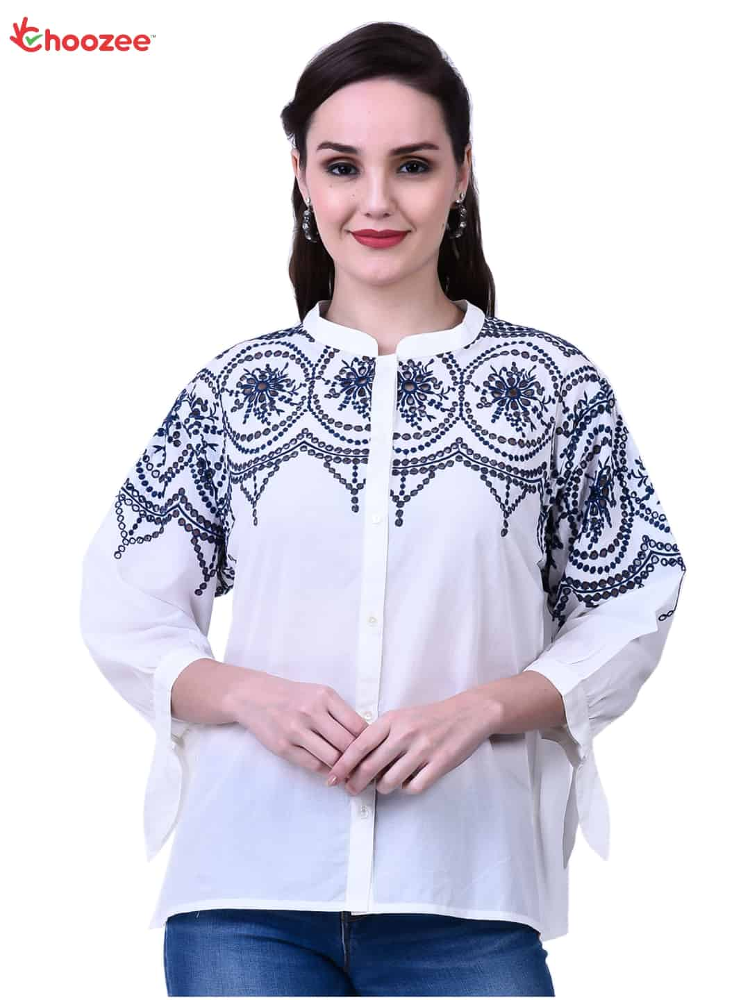 Inspire Women Top with Embroidery